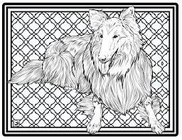 Downloadbare High Resolution Kleurplaat Pagina 9 Honden Serie