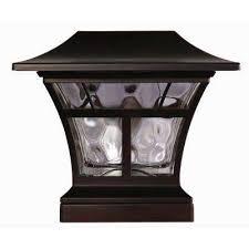 mediterranean outdoor lighting. Solar Powered Outdoor Mediterranean Bronze Integrated LED 3000K Warm White Landscape Post Cap Light Lighting