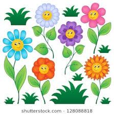 picture of cartoon flowers. Exellent Cartoon Cartoon Flowers Collection 1  Vector Illustration Throughout Picture Of Flowers L