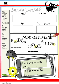 Students learn to sound out words by their beginning, middle and ending sounds. Phonics Worksheets Monster Phonics