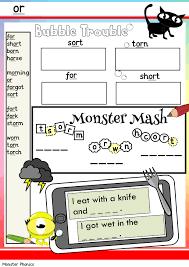 Preschool and kindergarten phonics worksheets for teachers and homeschool parents. Phonics Worksheets Monster Phonics