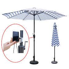 beach umbrella solar panel with usb ports charger patio umbrella