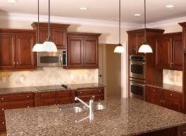 Dark Wood L Shaped Kitchen