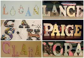 diy nursery letter collage decor idea