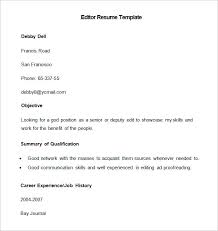 Resume Editor Custom Media Resume Template 60 Free Samples Examples Format Download