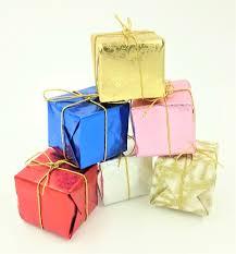 Weihnachtsgeschenke Christbaumschmuck Päckchen 3 Cm 5 Stück