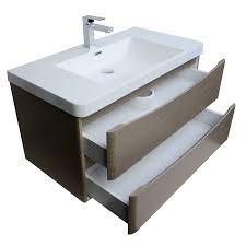 merida  inch wallmount bathroom vanity in light pine tnsm