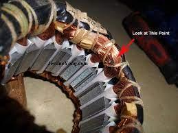 burnt coil in fan motor winding