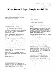 Examples Of College Research Papers Sample Paper Outline Example Mla
