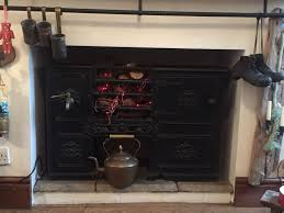details about antique victorian cast iron kitchen cooking range fireplace hob