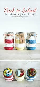 back to school striped mason jars diy back to school supplies back to school