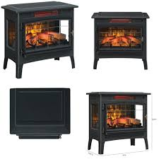 duraflame dfi 5010 01 infrared quartz fireplace stove w 3d flame effect remote