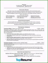 sample resume for investment banking best finance resume template genuine investment banking