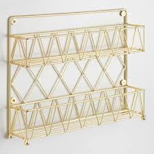 code bathroom wiring: gold wire  tier spice rack