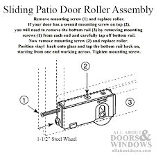 roller assembly with 1 1 2 inch steel wheel for sliding patio door