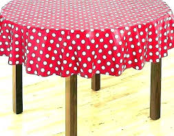red and white polka dot tablecloth black plastic round light grey spotty wipe clean vinyl oilcloth fabric