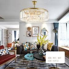 modern simple crystal chandelier ceiling light living room bedroom restaurant american chandelier light luxury art post modern pendant light fixture hanging