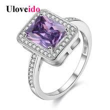 15 off unusual party square pinky rings zircon gifts for women anillos cristal gift bague femme 2017 size 6 7 y3250