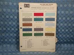 1960 Ford Car Falcon Original R M Paint Color Chip Chart