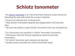 Schiotz Tonometer Ppt Video Online Download