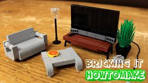 Of Living Room Furniture How To Make Lego Modern Living Room Furniture 20 Moc Basic