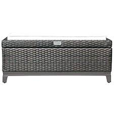 outdoor storage benches patio aluminum frame wicker cushion ottoman outdoor storage coffee table better homes and