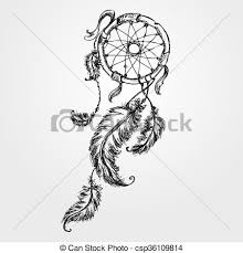 Native Dream Catchers Drawings Inspiration Dreamcatcher Feathers And Beads Native American Indian Dream