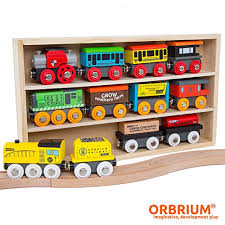 Car Engine Compatibility Chart Orbrium Toys 12 Pcs Wooden Engines Train Cars Collection