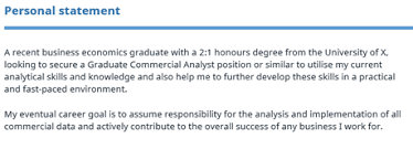 graduate cv template reed co uk personal statment