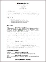 layouts of a resume resume layout example