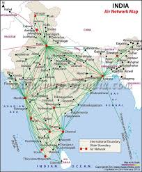 Airports And Air Route Map Of India In 2019 Flight Map
