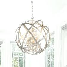 antique bronze 4 light round crystal chandelier 3