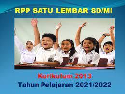 Unduh rpp 1 lembar revisi 2021 2022. Rpp 1 Lembar Kelas 1 2 3 4 5 6 Sd Mi Tahun Pelajaran 2021 2022