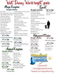 Walt Disney World Height Chart Walt Disney World Walt