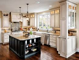 country kitchen ideas white cabinets. Country Kitchen With Farmhouse Sink, Cream Cabinets And Center Island Ideas White O