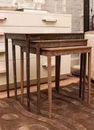 vine teak nesting tables