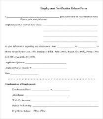 Employment Verification Templates Employment Verification Form Template 5 Free Pdf