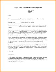 4 Scholarship Thank You Letter Examples Hr Cover Letter