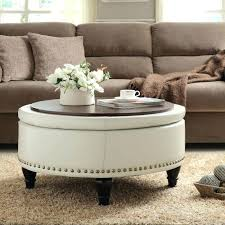 round ottoman table round large storage ottoman coffee table railing stairs and regarding large round ottoman