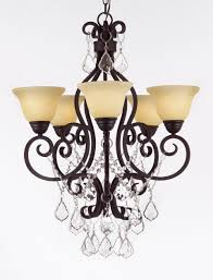c188 b12 2655 hamilton home oil rubbed bronze finished single tier chandelier chandeliers lighting with crystal and frosted ivory shades good for dining