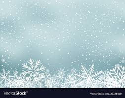 Winter Holiday Background With Snow