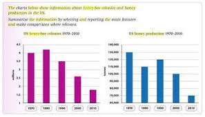 Ielts Bar Chart Honey Bee Colonies And Production