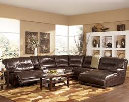 leather sectional living room furniture. Contemporary Sectional Signature Design By Ashley Exhilaration  Chocolate Contemporary Leather  Match Sectional Sofa With LAF Power Recliner AHFA Dealer Locator Inside Living Room Furniture