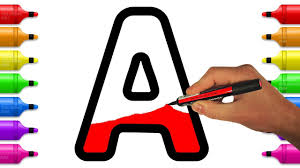 Learn And Color Letters From A To Z Alphabet Coloring Pages For