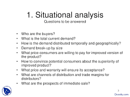 Situational Analysis Questions Market And Demand Analysis Project Management Lecture Slides Docsity