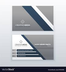 Professional Modern Business Card Creative Vector Image