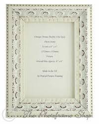 handmade ornate distressed soft white shabby chic vintage photo frame 6 x 4 inch