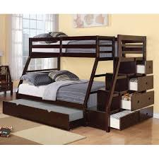 twin over full bunk bed with stairs. Reece Twin Over Full Bunk Bed With Storage Ladder And Trundle Stairs