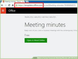Office Meeting Minutes How To Format Corporate Meeting Minutes With Ms Word 13 Steps