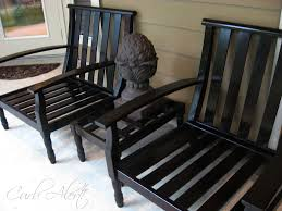 Curb Alert Outdoor Wood Patio Chairs Refinishing Project